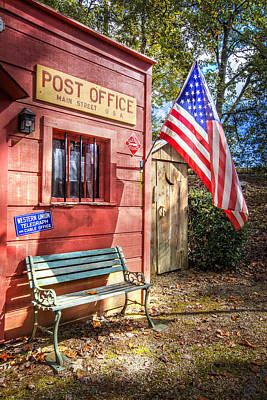 Antique Outhouse Photograph - Old Timey Post Office by Debra and Dave Vanderlaan
