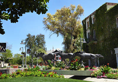 Bronze Horse Photograph - Old Town Scottsdale by Gordon Beck
