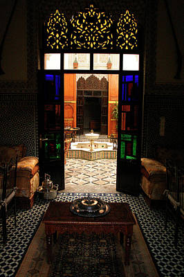 Old Traditional Riad In Fez Print by Ralph A  Ledergerber-Photography