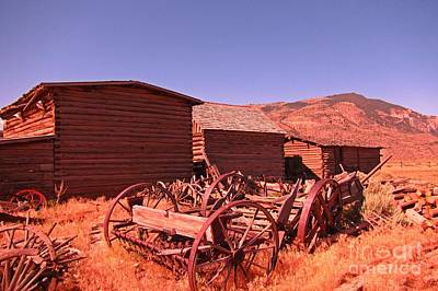 Old Trail Town Landscape Print by John Malone