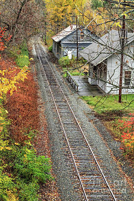 Train Photograph - Old Train Station Norwich Vermont by Edward Fielding