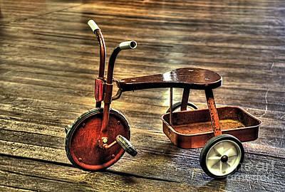 Old Tricycle Original by Kaye Menner