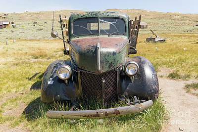 49er Photograph - Old Truck At The Ghost Town Of Bodie California Dsc4402 by Wingsdomain Art and Photography