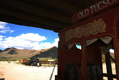 Old Tuscon Stage Coach And The Reno Print by Susanne Van Hulst
