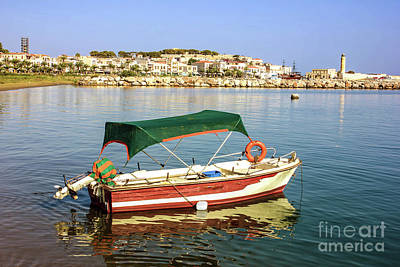 Photograph - Old Venetian Harbour Of Rethymno by Fine art Photographs