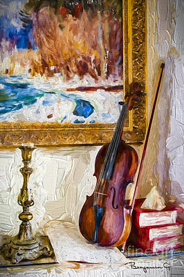 Old Violin  Original by Benjamin Gelman