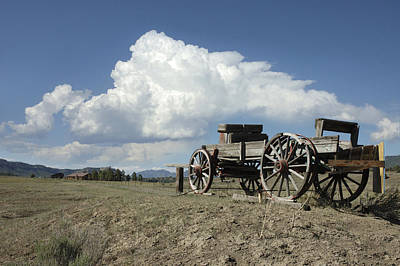 Old Wagon Out West Print by Jerry McElroy