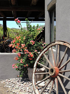 Western Themed Photograph - Old Wagon Wheel by Gordon Beck