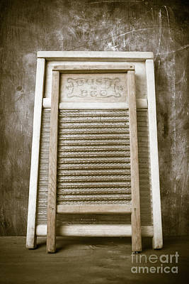 Laundry Room Photograph - Old Washboards by Edward Fielding