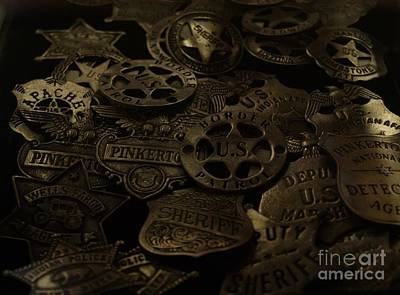 Old West Photograph - Old West Badges by Sherry Vance