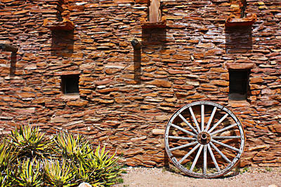 Photograph - Old West Wagon Wheel by Gravityx Designs