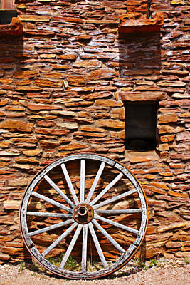 Photograph - Old West Wagon Wheel by Gravityx9 Designs