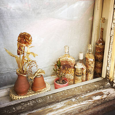 Floral Photograph - Old Window In Budapest by Matthias Hauser