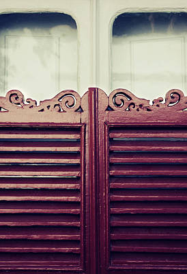 Old Window Shutters Print by Carlos Caetano