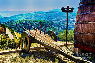 Old Wine Cart Print by Rick Bragan