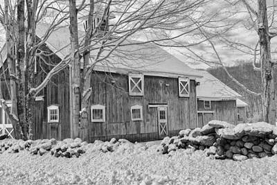 Old Winter Bw  Print by Bill Wakeley