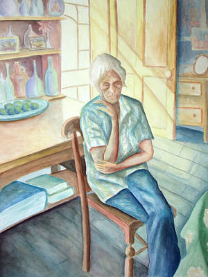 Old Age Painting - Old Woman by Nancy Mueller