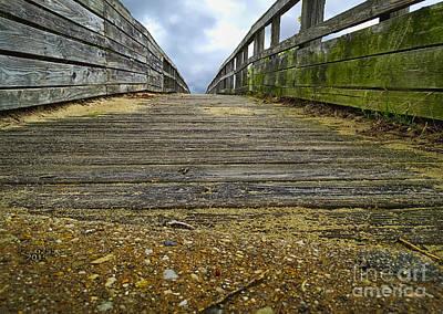 Digital Photograph - Old Wooden Bridge by Melissa Messick