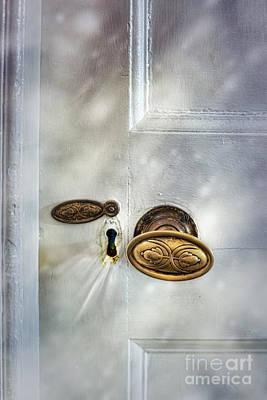 Old Wooden Door Print by Amanda Elwell