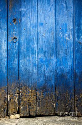Old Wooden Door Print by Carlos Caetano