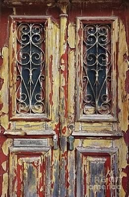Old Wooden Doors Print by Carlos Caetano