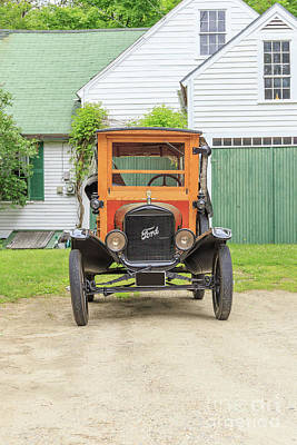 Horseless Carriages Photograph - Old Woodie Model T Ford  by Edward Fielding