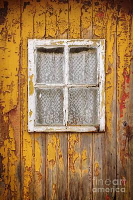 Old Yellow Door Print by Carlos Caetano