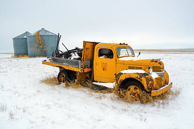 Truck Photograph - Old Yellow by Todd Klassy