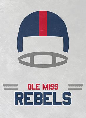 Ole Miss Rebels Vintage Football Art Print by Joe Hamilton
