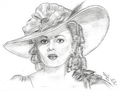 Steven White Drawing - Olivia De Havilland by Steven White
