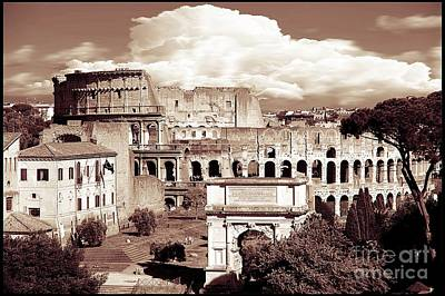 Colosseum From Roman Forums  Print by Stefano Senise