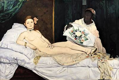 Prostitutes Painting - Olympia by Edouard Manet