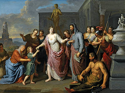 Painting - Olympia Presenting The Young Alexander The Great To Aristotle by Gerard Hoet