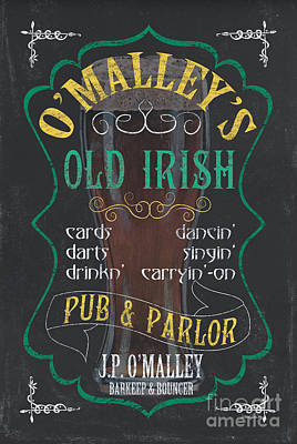 Froth Painting - O'malley's Old Irish Pub by Debbie DeWitt