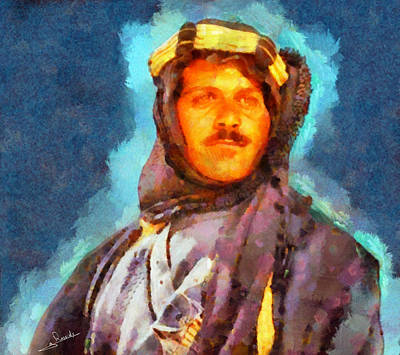 Egypt Painting - Omar Sharif by George Rossidis