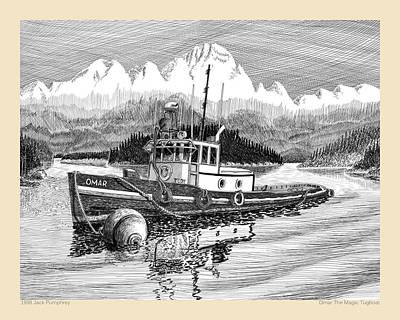 Omar The Magic Tugboat Print by Jack Pumphrey
