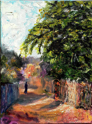 Contry Painting - On A Lovely Afternoon by Amani Al Hajeri