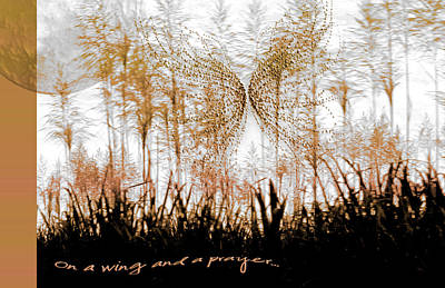 On A Wing And A Prayer Print by Holly Kempe