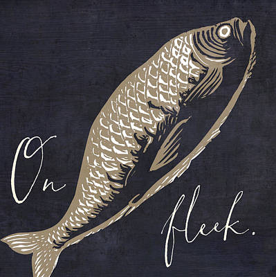 Fish Painting - On Fleek by Mindy Sommers