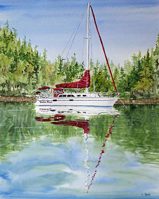On Golden Pond Print by Aaron Beaty