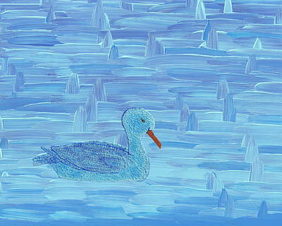 Duck Painting - On His Way IIi by Manuel Sueess