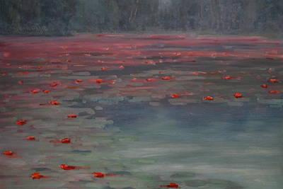On Lilly Pond Print by Len Stomski