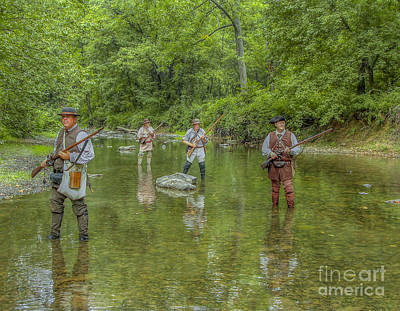 Muzzleloader Digital Art - On Patrol With Wulff's Rangers Junita Crossing by Randy Steele