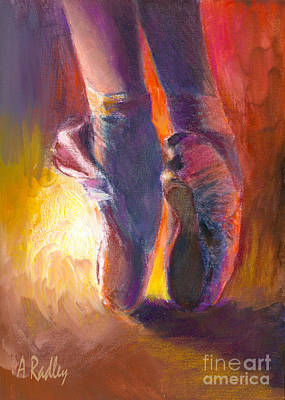 Ballerina Painting - On Pointe At Sunrise by Ann Radley