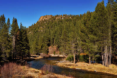 On The Banks Of The Truckee River Print by Mountain Dreams