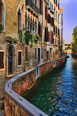 Must Art Photograph - On The Canal-venice by Tom Prendergast