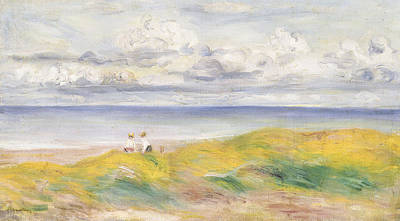 On The Cliffs Print by Pierre Auguste Renoir