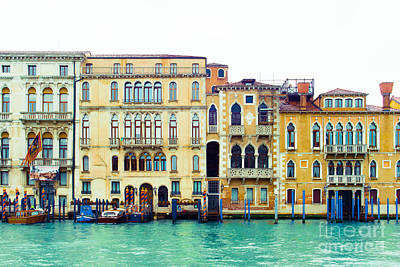 On The Grand Canal Print by Sonja Quintero