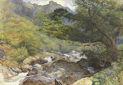 On The Lyn, North Devon Print by William Henry Millais