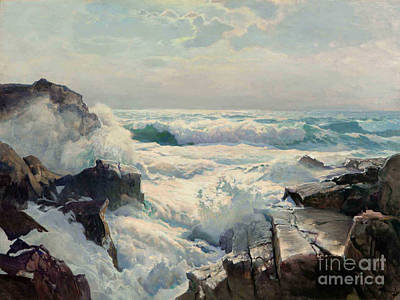 On The Maine Coast Print by Pg Reproductions